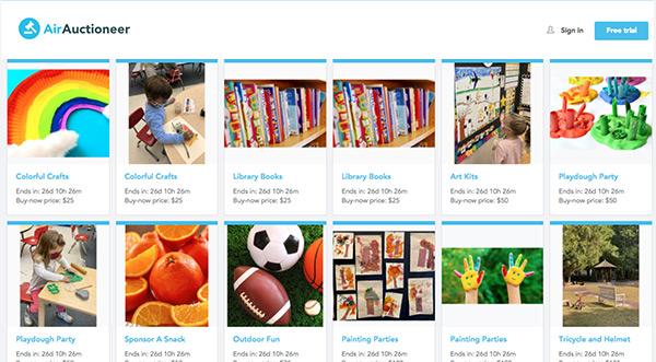 Village School Auctions items via Air Auction