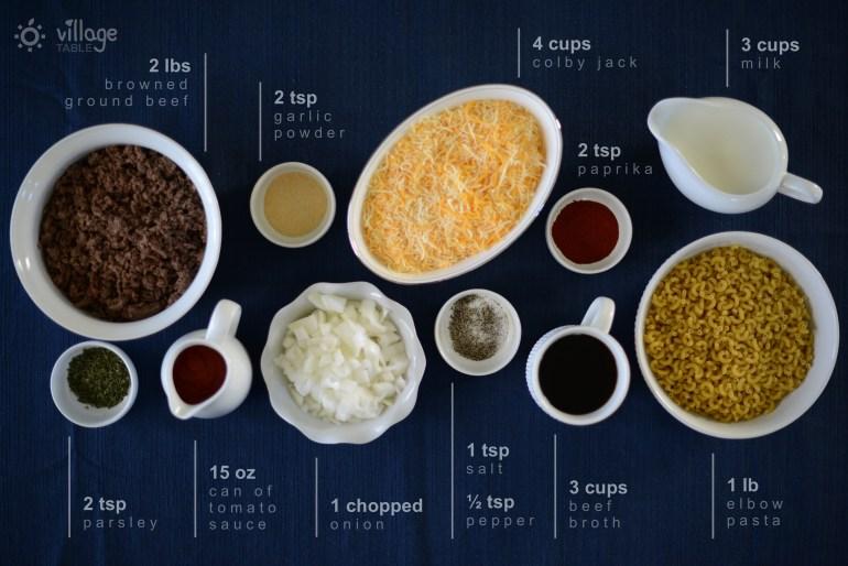 Hamburger Helper Ingredients