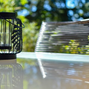 terrasse villa hélianthe - photo tête en Leyre