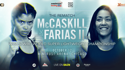 JESSICA MCCASKILL DEFENDS WORLD TITLES IN ERICA FARIAS REMATCH