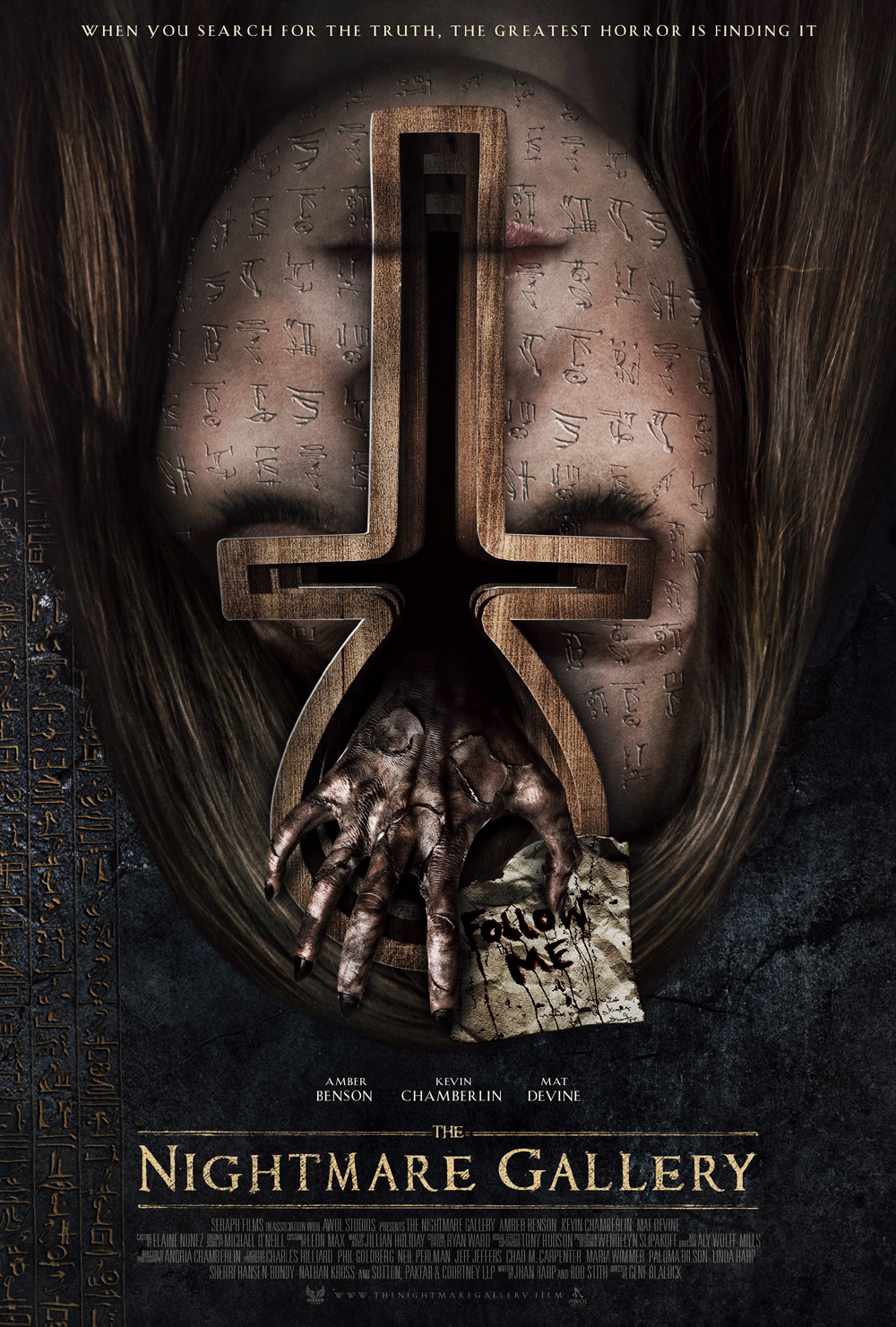 Nightmare Gallery Trailer, Nightmare Gallery Poster, Amber Benson