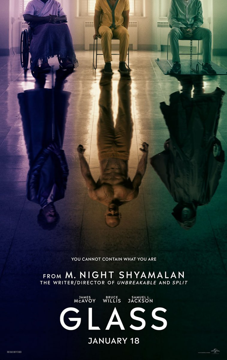 Glass Images, Glass Teaser Poster, M. Night Shyamalan