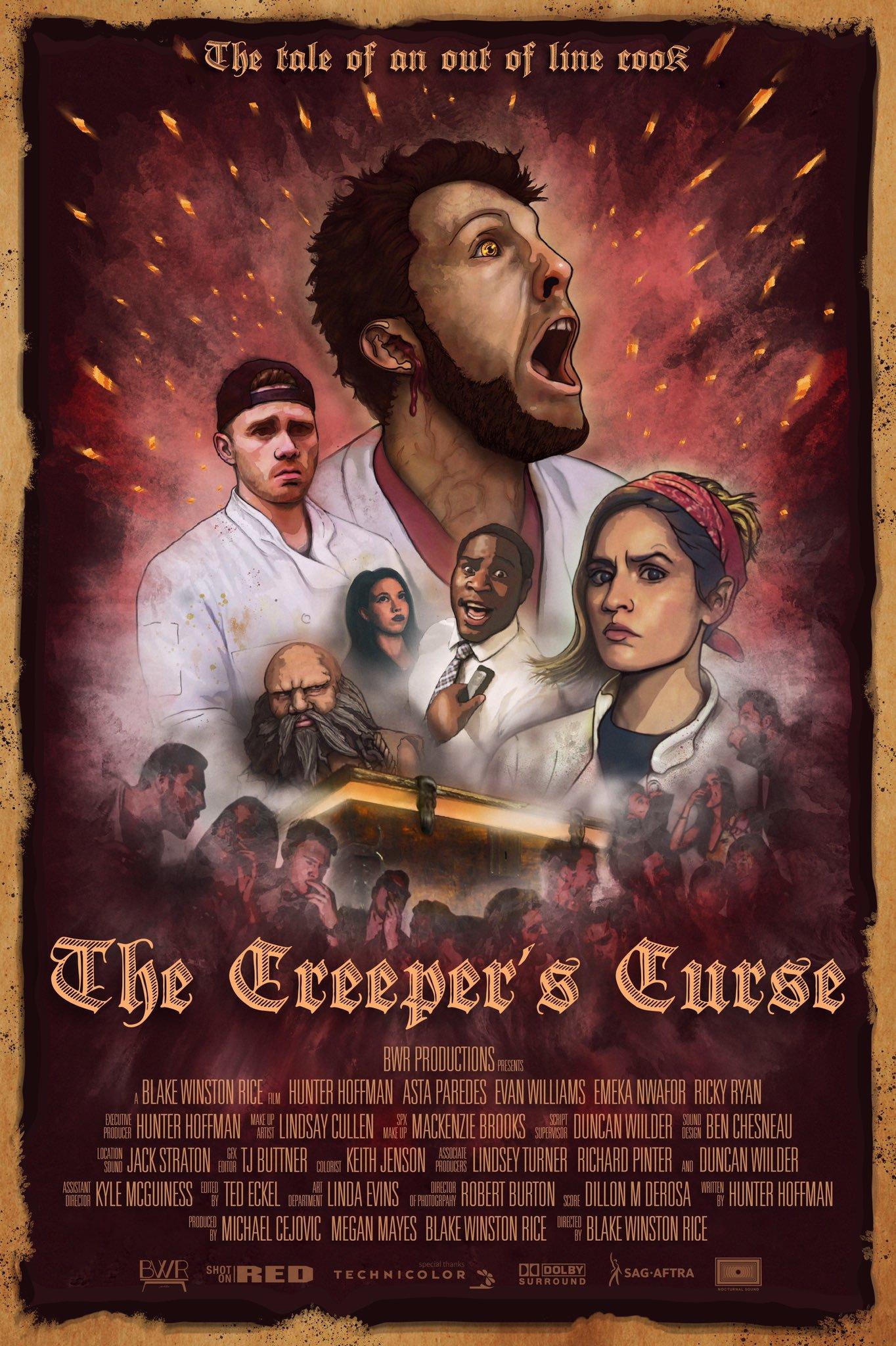 Curse Official, Hunter Hoffman, Creeper's Curse Poster, Poster