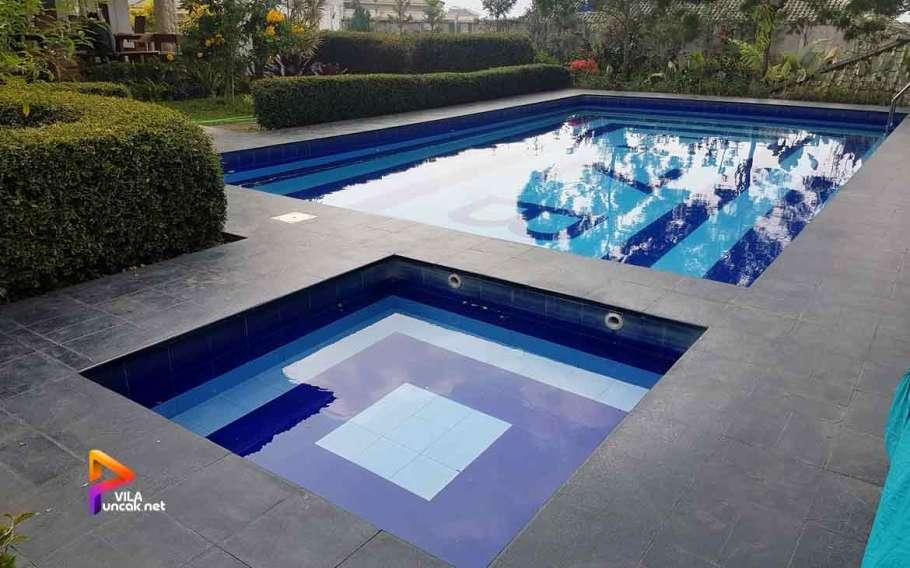 villa di cibodas puncak 5 kamar murah kolam renang pribadi 7