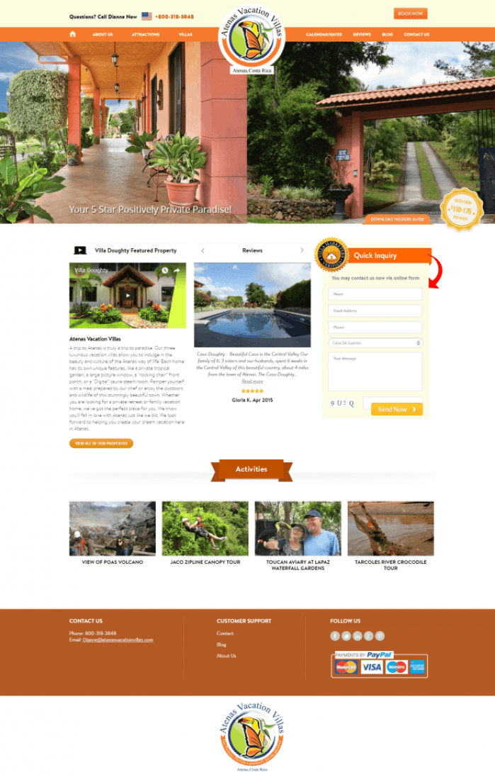 costa-rica-vacation-rental-website-design