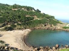 Beach cove around castelsardo