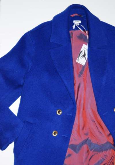 ROYAL BLUE DOUBLE BREASTED COAT