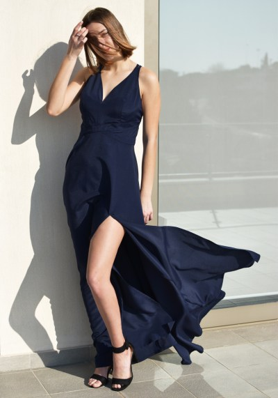 DARK BLUE EVENING MAXI DRESS