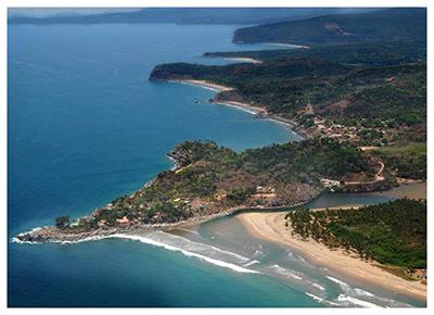 Punta El Custodio villa rental from the air