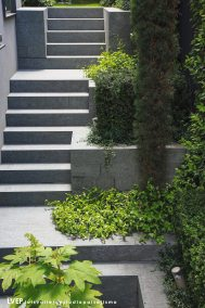 Negro Villar_Retaining wall and stairs, private house, Sotogrande(Spain)