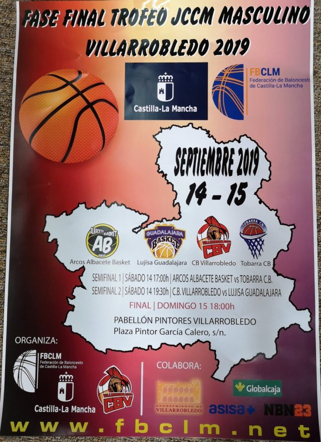Cartel Final Four CBV Trofeo JCCM