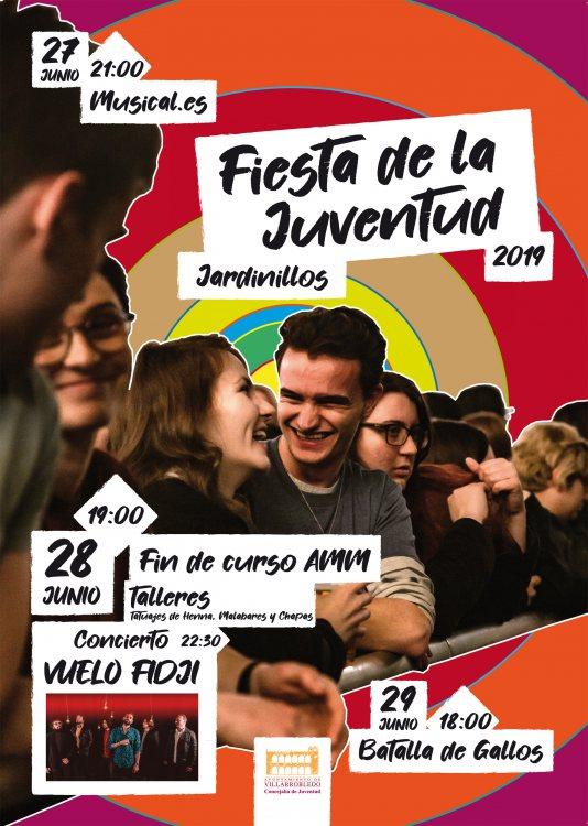 Cartel de la Fiesta de la Juventud 2019 que incluye información de todas las actividades