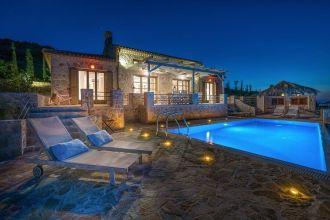Villa Harmonia, Agios Nikolaos, Zante, Ionian Islands, swimming pool, sunbeds