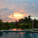 casa lapas sunset reflection