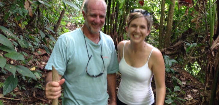 Clients hiking costa rica