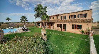 Preciosa casa de campo en alquiler con piscina en Ses Salines