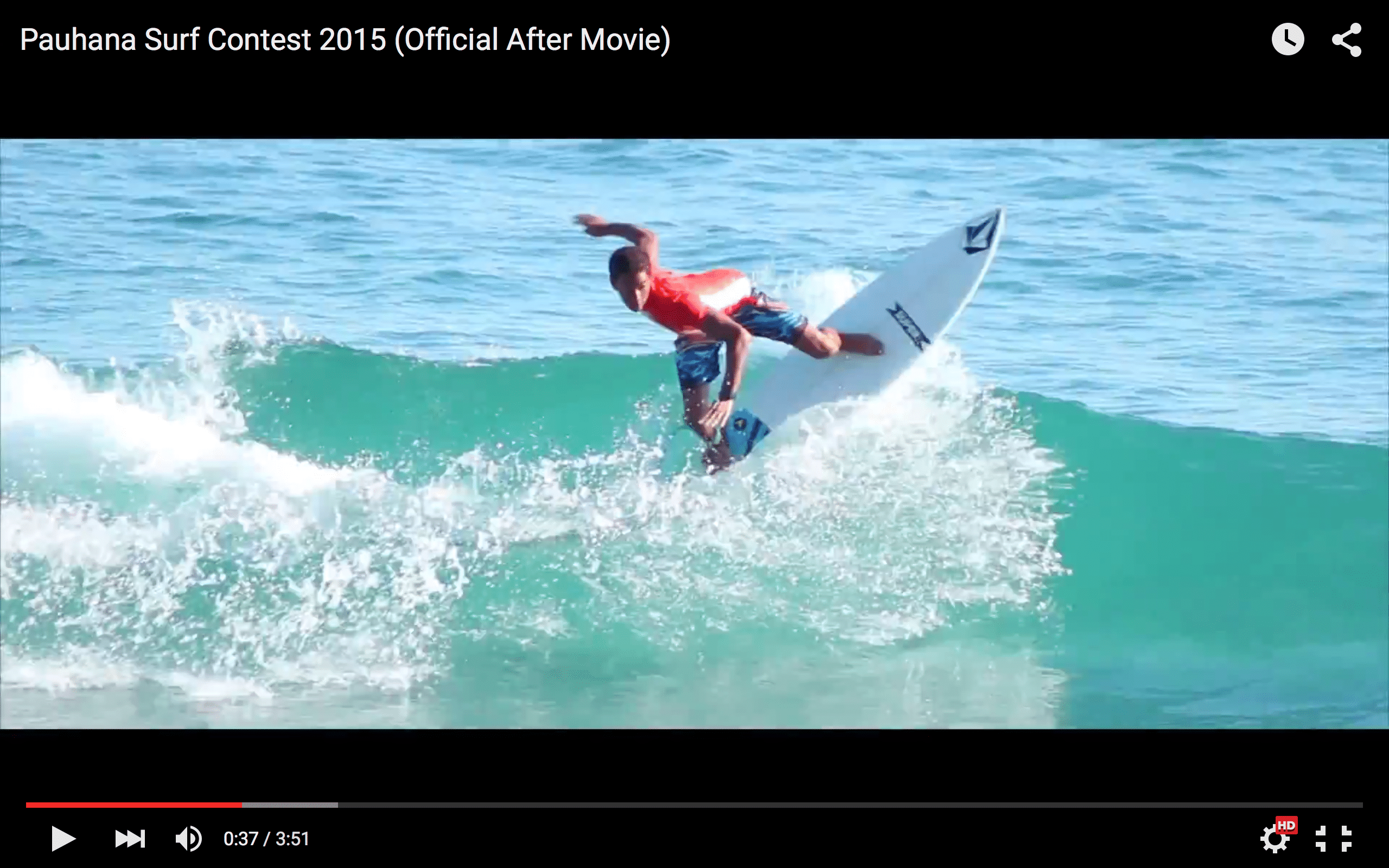 2015 Pauhana Surf Contest Video