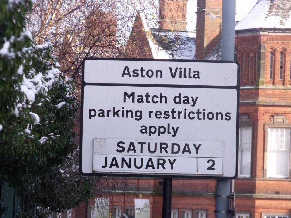 Parking Restrictions Villa Park Aston Villa