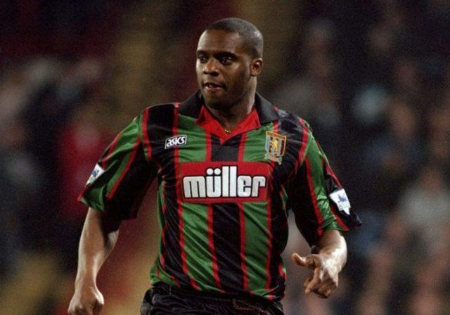 Aston Villa Green and black away kit Atkinson