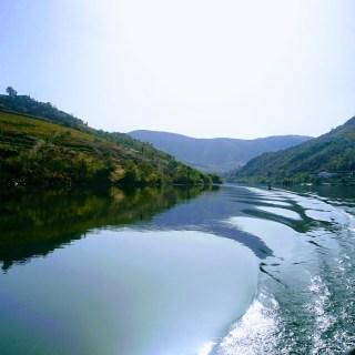 Stilla flyter Douro. Flodtur.