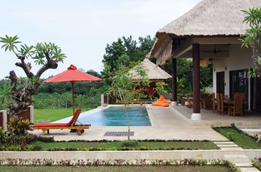 The swimming pool and terrace