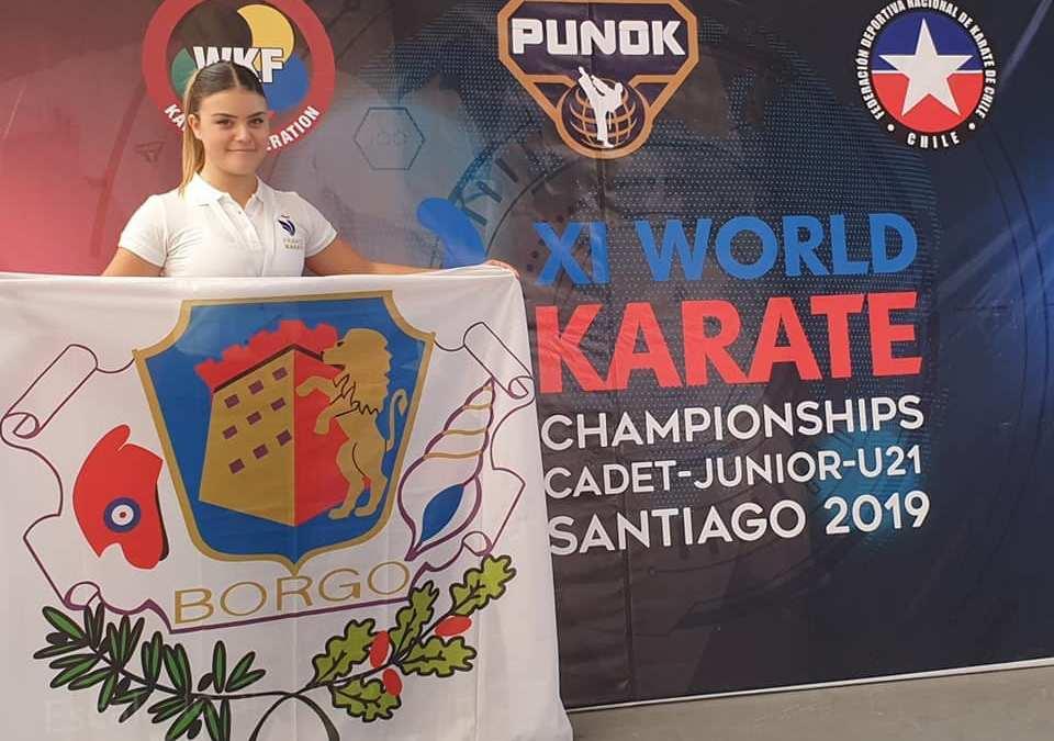 Cassandra Sampieri : 5ème aux Championnat du Monde de Karaté (Cadet/Junior/U21)