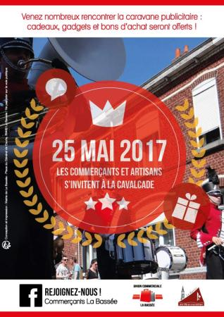 63ème Cavalcade de l'Ascension - Affiche des commerçants