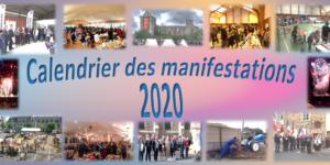Calendrier des manifestations 2020