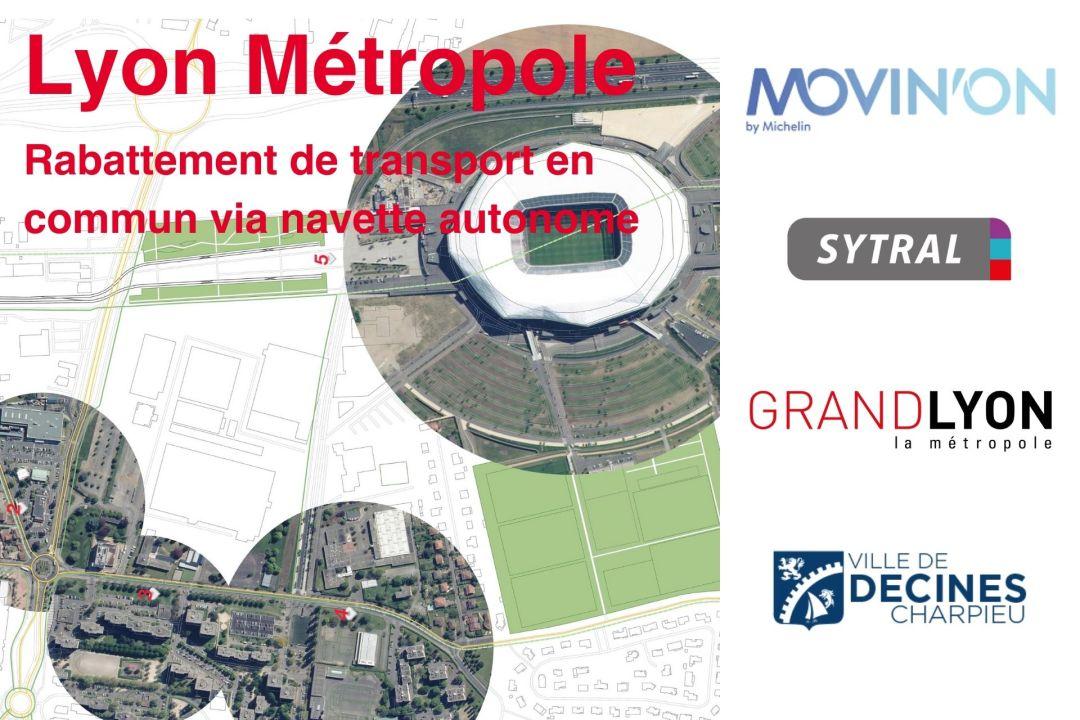 Movin'on Summit : Grand Lyon – Rabattement de transport en commun via navette autonome
