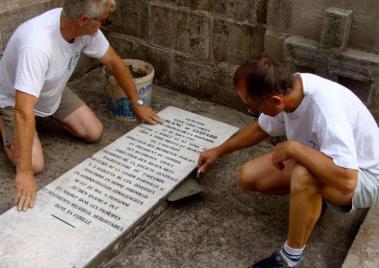 Le tombeau des De Guizard restauré