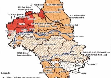 Arrêté préfectoral sur l'usage de l'eau au 12/10/2019