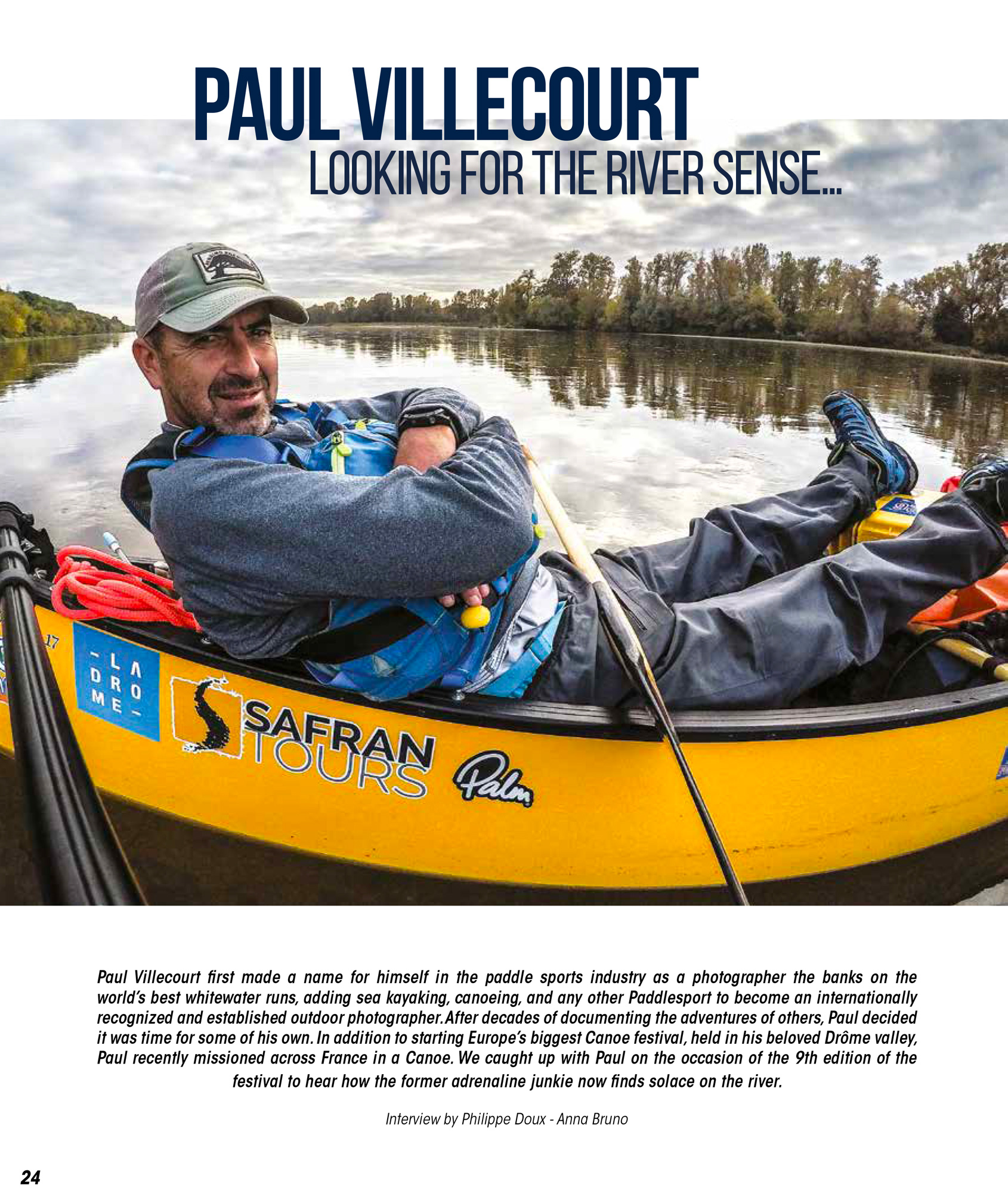 Interview in Paddle World magazine.