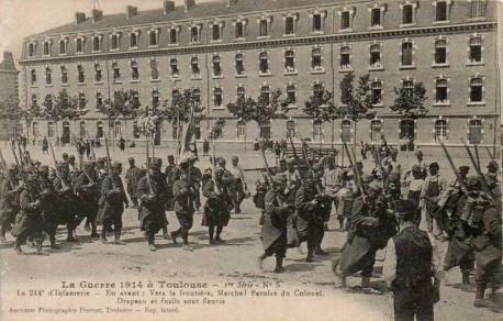 depart regiment infanterie