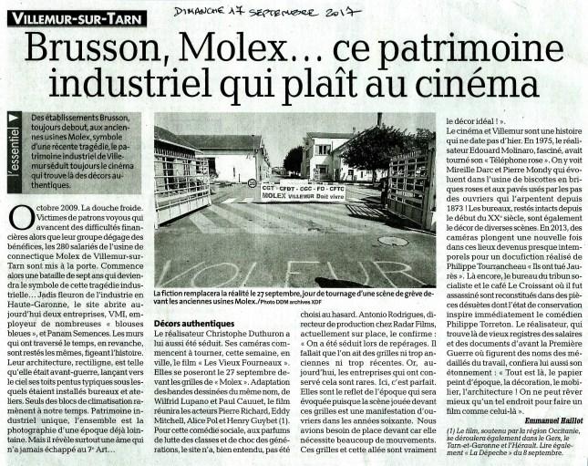article cinéma chez molex