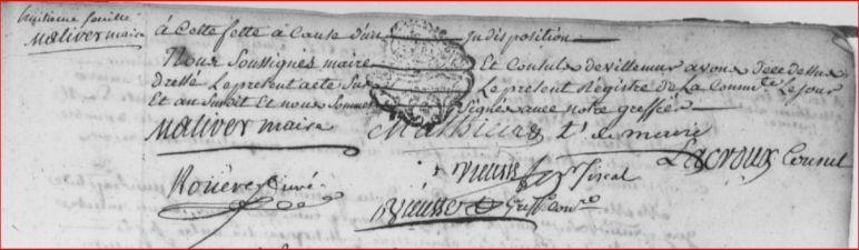 signatures registre