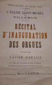 affiche orgues