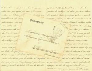 lettre sur papier allemand