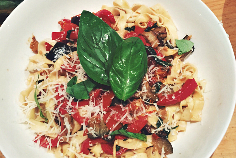 eggplant capsicum pasta