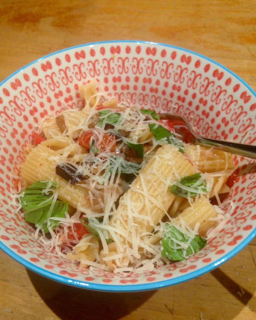 eggplant capsicum pasta 2
