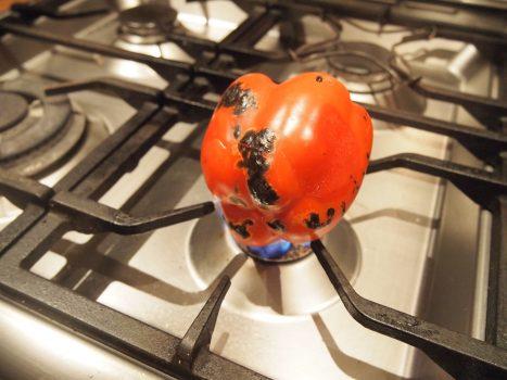 roasting capsicum