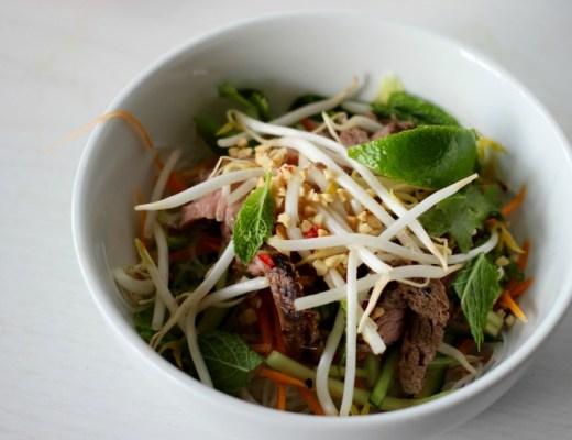 Lemongrass beef noodle salad