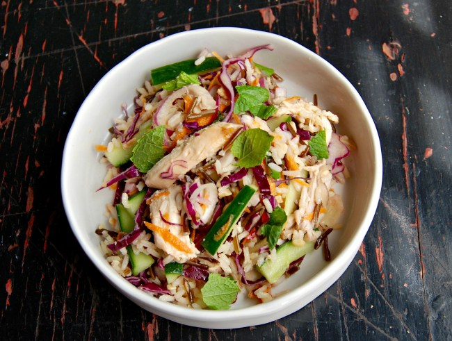 wild rice and chickens salad