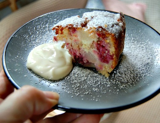 raspberry pear cake