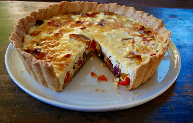 roast vegetable and ricotta tart