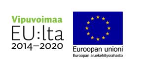 Vipuvoimaa-logoteksti ja EAKR-EU-lippulogo
