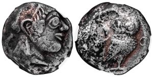 ATHENS SILVER TETRADRACHM - LATE ARCHAIC EMISSION STRUCK JUST PRIOR TO THE PERSIAN WARS - CHOICE VF NGC GRADED GREEK ATTICA COIN (Inv. 10232)