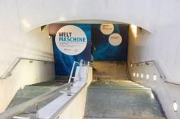U-Bahnhof Bundestag, Eingang zur Ausstellung