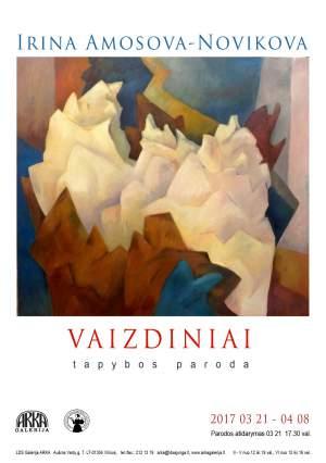 """Irina Amosova-Novikova - tapybos paroda """"VAIZDINIAI"""""""