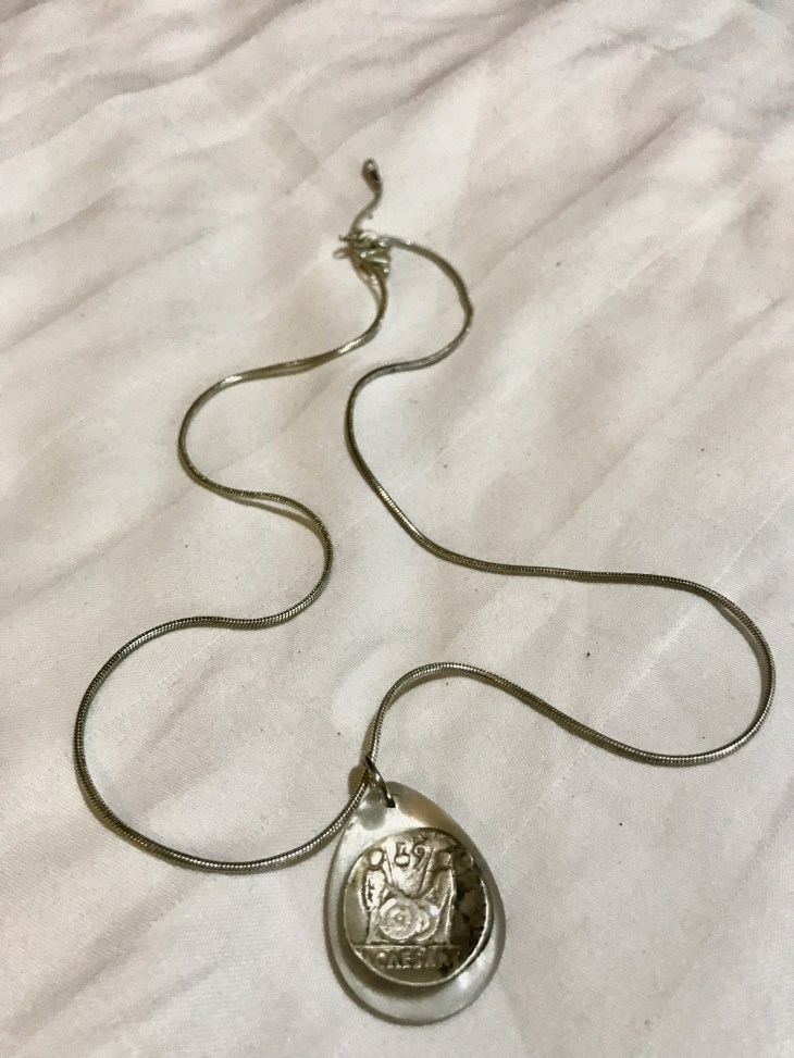 Silver coin caesar Augustus