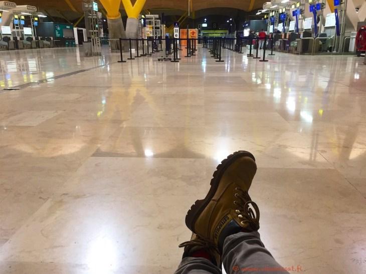 Punkka lentokentällä